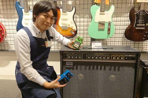 スタッフ写真ギターアドバイザー、エフェクター、マルチエフェクター加藤