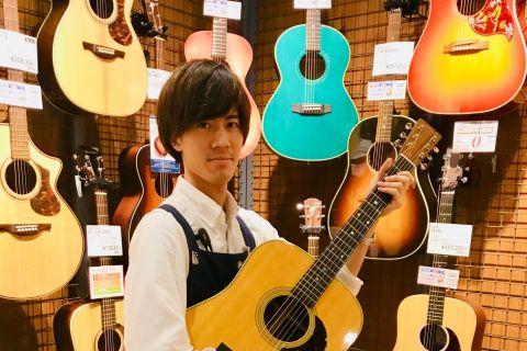 スタッフ写真アコースティックギター、ギターアクセサリー田平