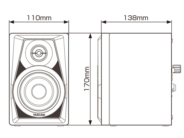 VL-S3/VL-S3BT 寸法図