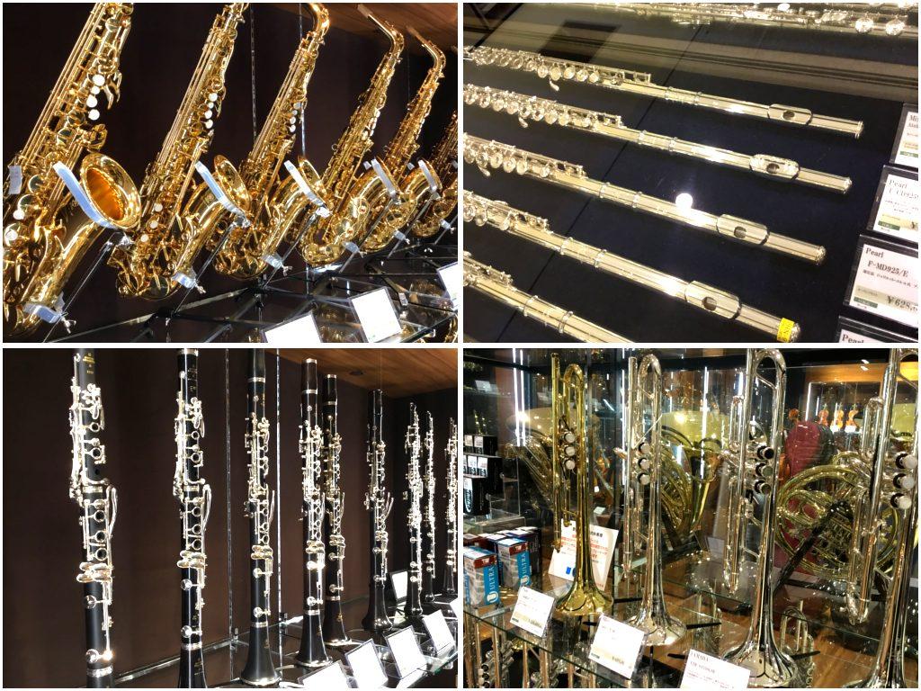 店頭の管楽器