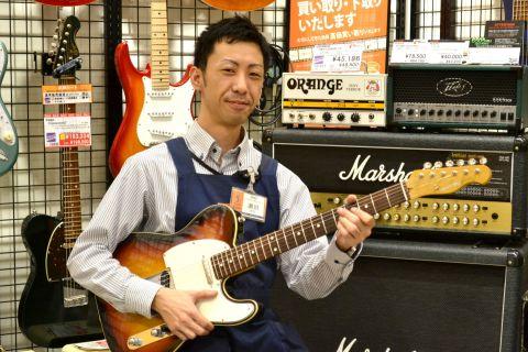 スタッフ写真副店長・エレキギター・エレキベース・クラシックギター・エフェクター・アンプ・ピアノ・防音瀬田