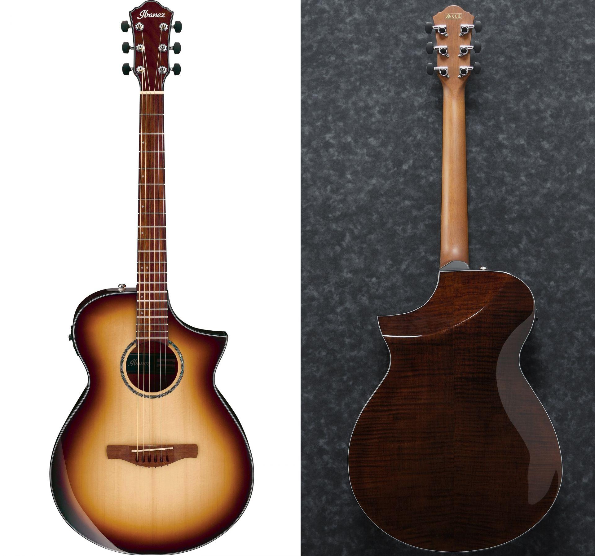 エレキ・ギターやベースの製作経験を活かした、新しいアプローチのエレアコギター。ボディトップにはアーチ加工、バックにはコンター加工を施しており、プレイヤーの体へフィットするよう設計されています。また、左右非対称シェイプのグリップを採用。それによりバツグンの握り心地を実現しました。
