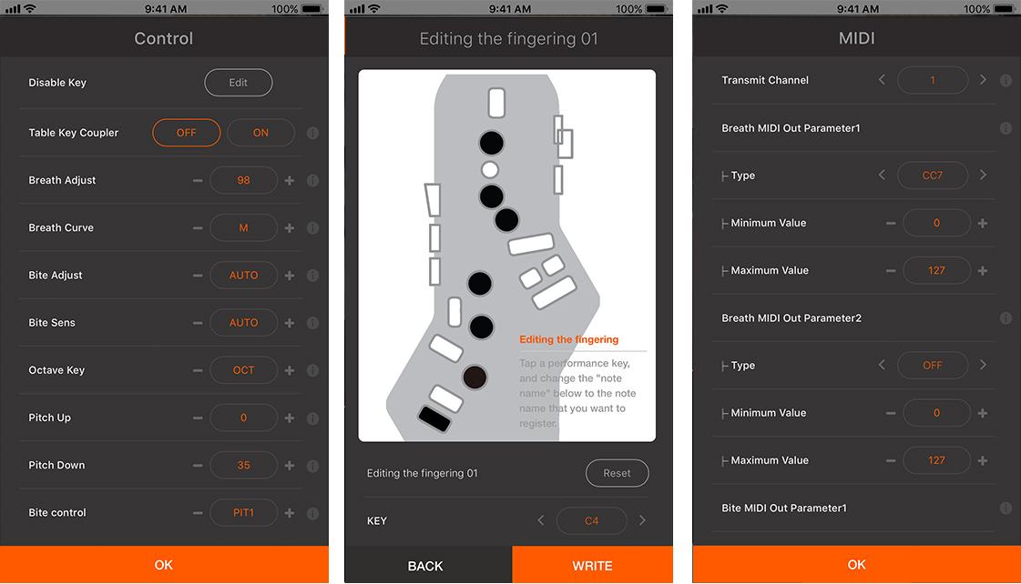 iPhone / Android のどちらのスマート・デバイスに対応 iOS11以降、Android 7 以降に対応 App Store (iOS), Google Play (Android) から無料ダウンロード Bluetooth 経由でワイヤレス接続 金管楽器やギター・ベース、シンセリードや尺八など50種類の音色 スマホに保存された曲に合わせて演奏可能/li> スピードやキー/ピッチの変更、センター・キャンセルを使ったカラオケ演奏 リコーダー運指の変更など自分のスタイルに合わせて、本体の設定をカスタマイズ メトローム機能
