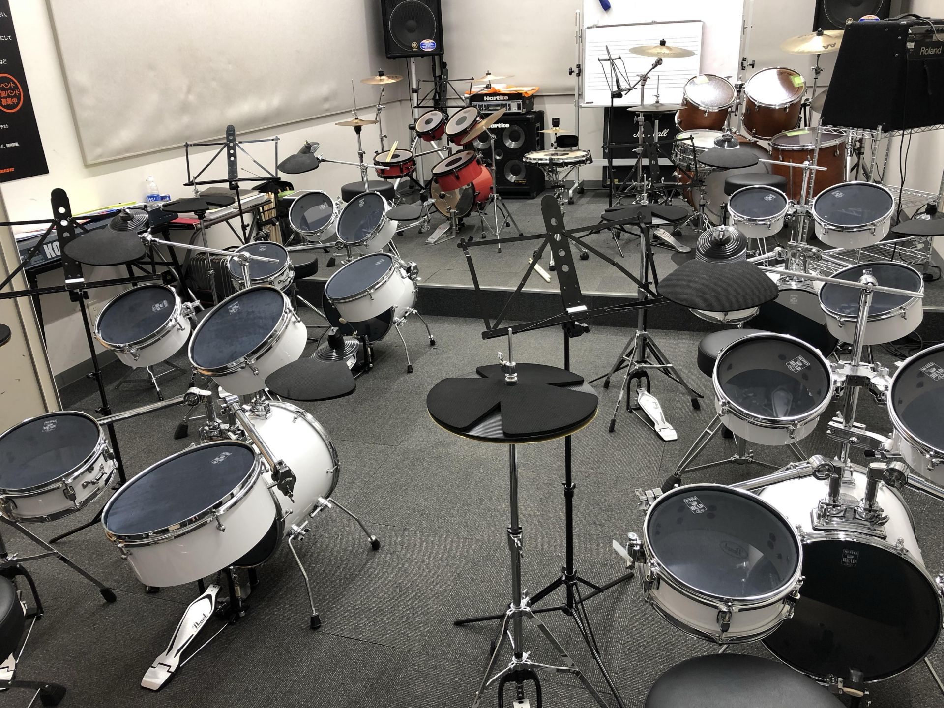 ドラム教室レッスンルーム