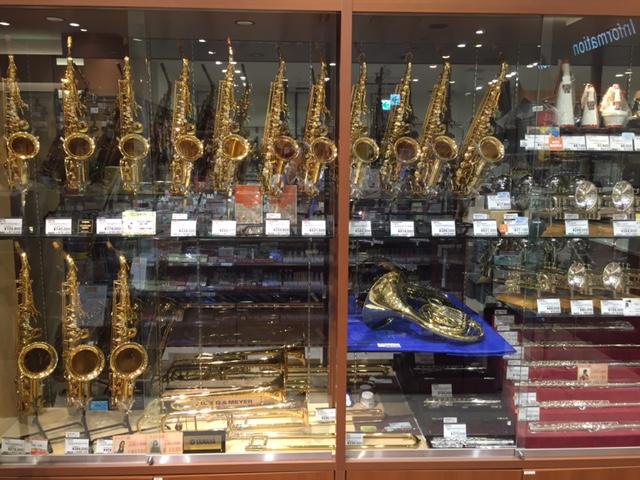 島村楽器イオンモール浜松市野店管楽器コーナー