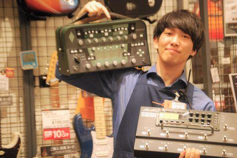 スタッフ写真ギターアドバイザー(現在エレキギター・エフェクター・ギターアクセサリーなど担当中!)古崎