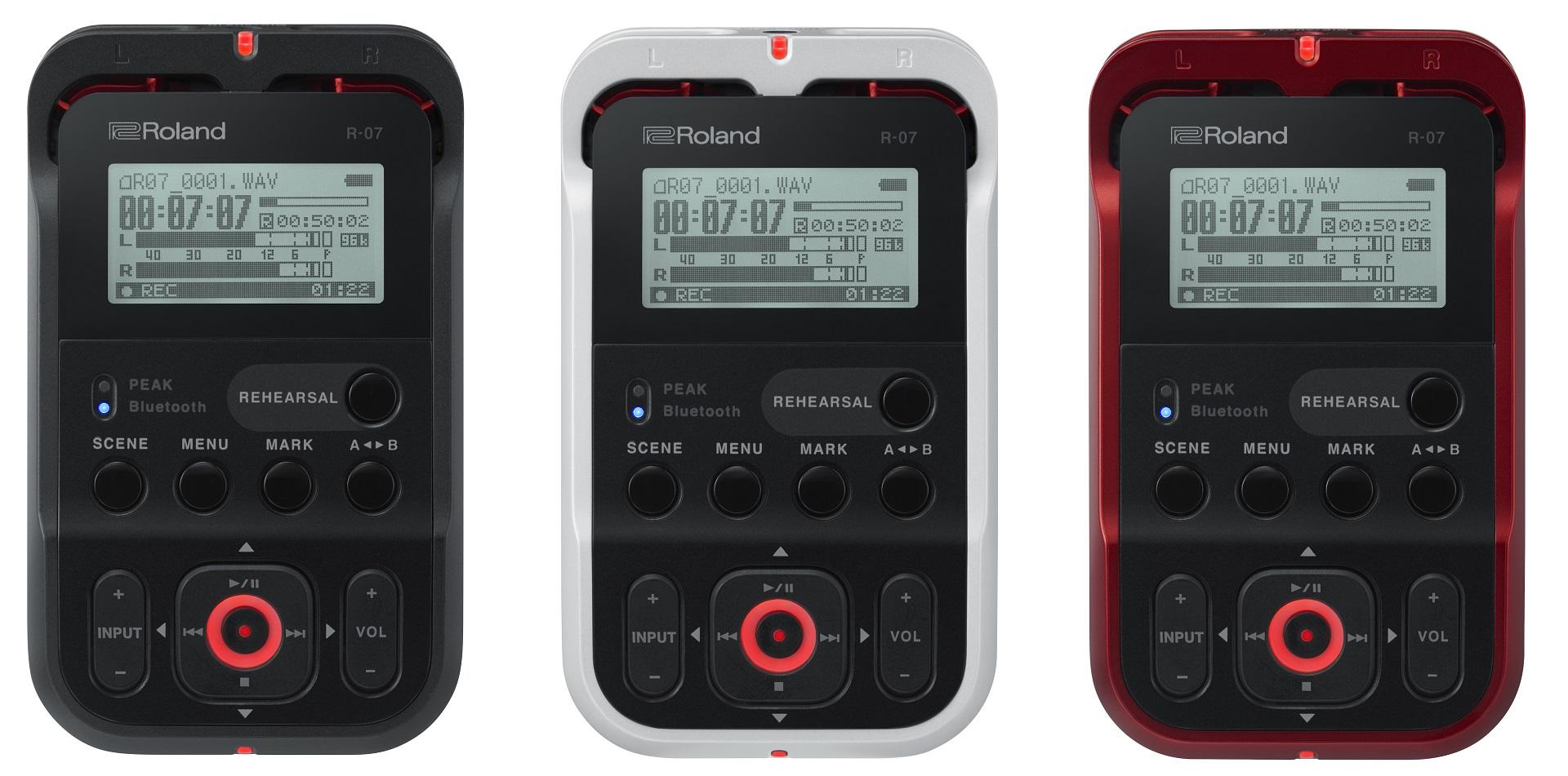 Roland ( ローランド )がBluetooth対応で、スマートフォン/ スマートウォッチからリモコン操作が可能なハイレゾ・オーディオ・レコーダー「R-07」を発売します。カラーはブラック、ホワイト、レッドの3色