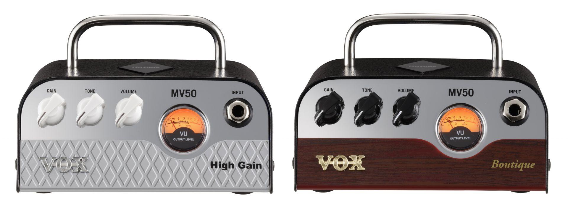 """次世代真空管Nutubeを搭載したMV50 シリーズに2モデルが新登場。 ラインナップは、ハイゲイン・サウンドが魅力の""""MV50 High Gain""""と、ブティック系アンプの伝説的サウンドを再現した""""MV50 Boutique""""の2種類です。 </p>   <p>540gという圧倒的な軽量設計ながら、ライブなどでも十分使用可能な50Wの高出力を実現。自宅練習やライブなど幅広いシチュエーションで真空管サウンドを楽しむことができます。"""