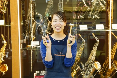 スタッフ写真管楽器リペア岡