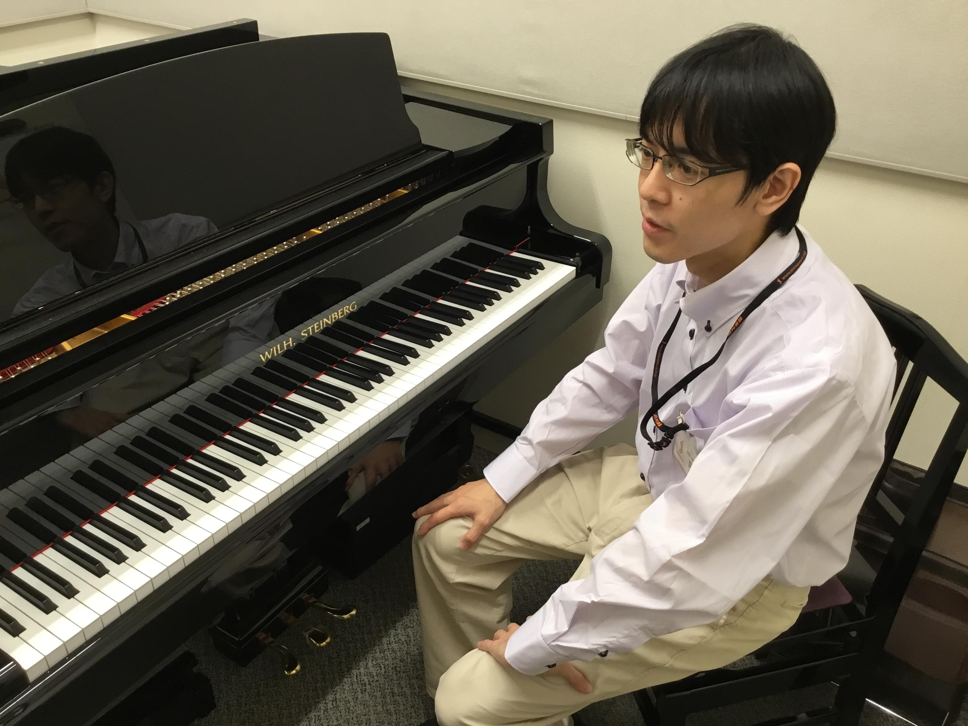 川口駅音楽教室ピアノレッスン講師齋藤卓先生画像