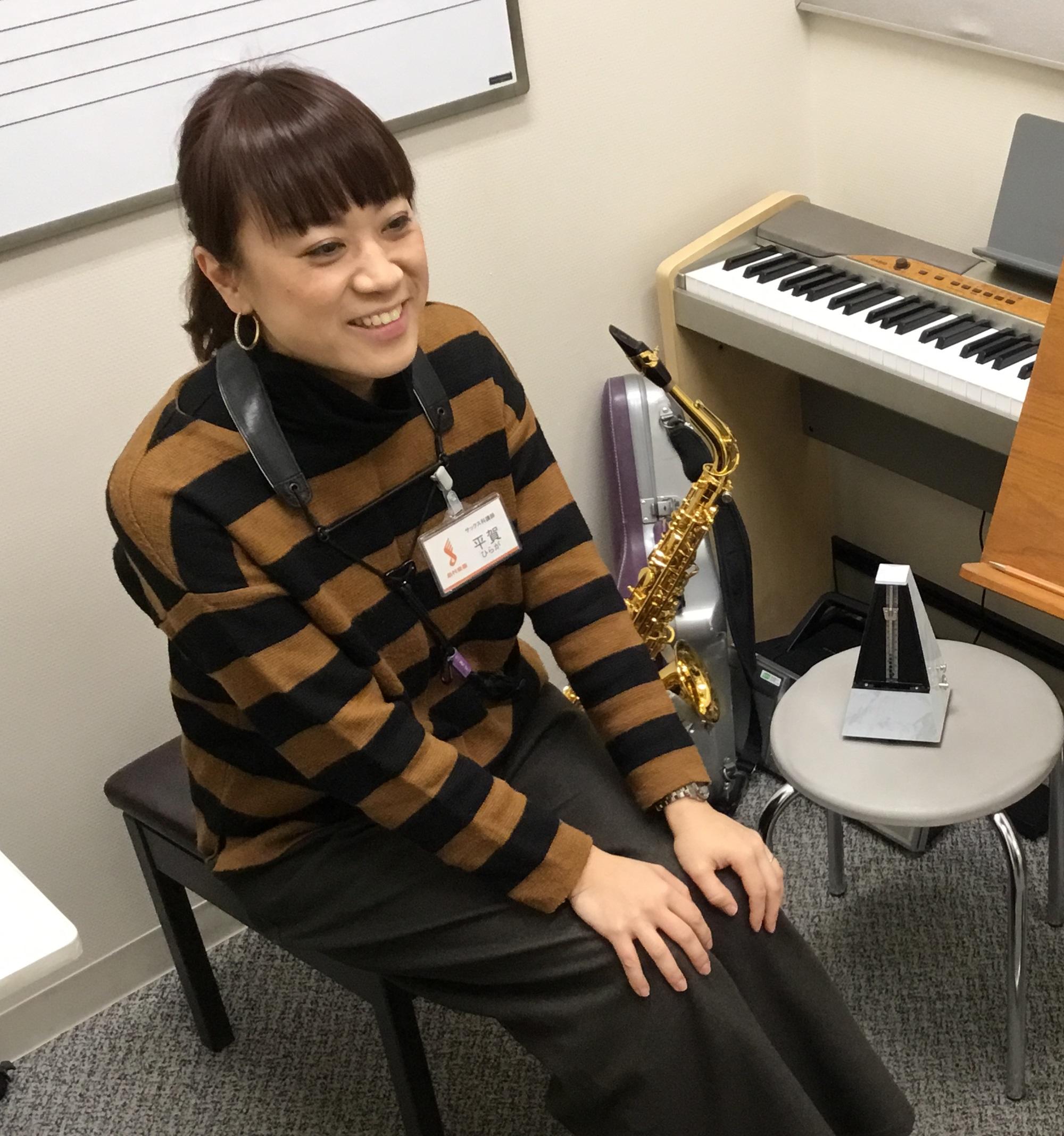 島村楽器かわぐちキャスティ店サックス教室講師平賀先生