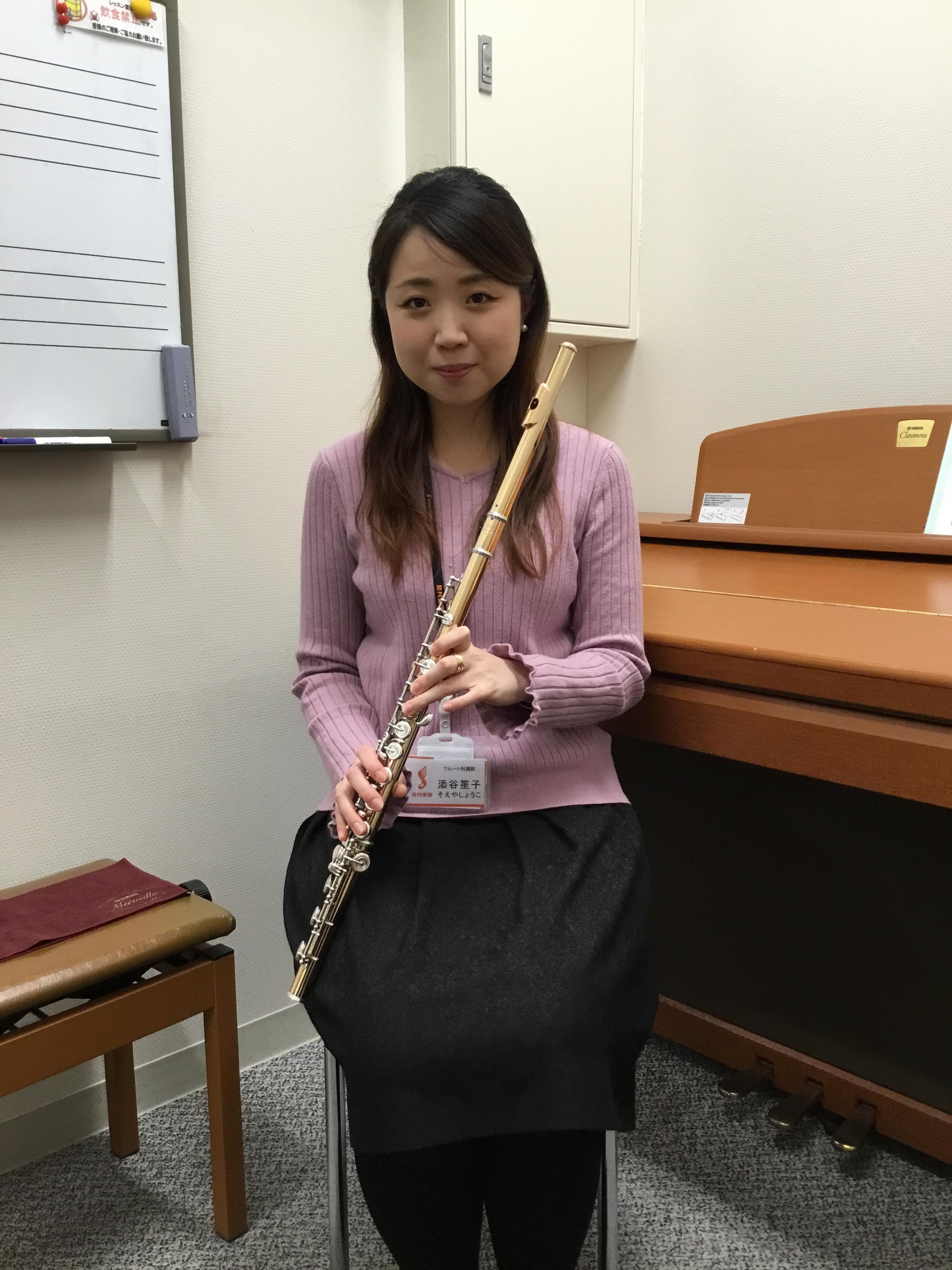 かわぐちキャスティ音楽教室フルート教室添谷笙子先生