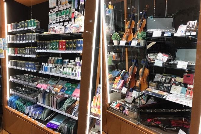 川口駅前島村楽器川口キャスティ店管楽器弦楽器コーナー画像