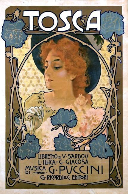 画家にメトリコヴィッツよるトスカのポスター