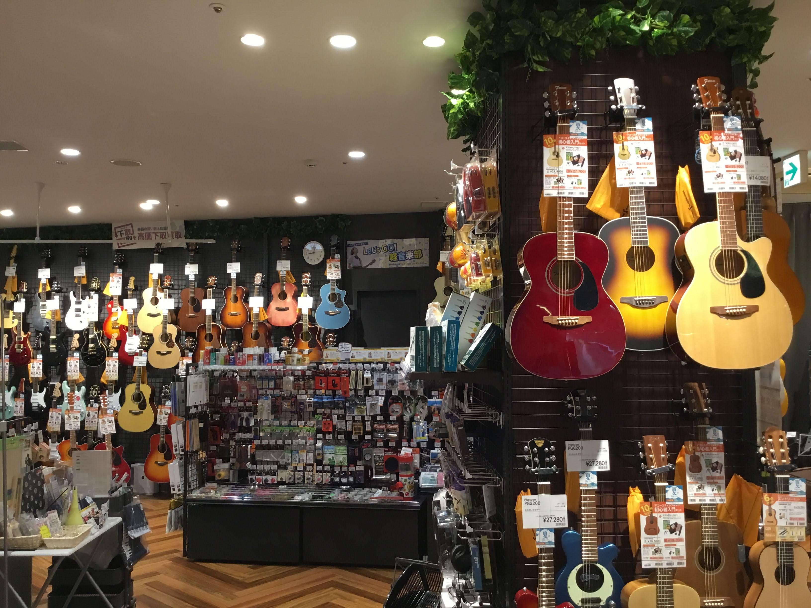 埼玉県川口市島村楽器初心者向けアコースティックギター売り場画像