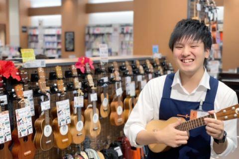 スタッフ写真エレキギター・ギターアクセサリ・ウクレレ・楽譜担当北山
