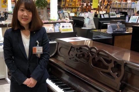 スタッフ写真ピアノ・電子ピアノ・キーボード・ウクレレ・防音室西村