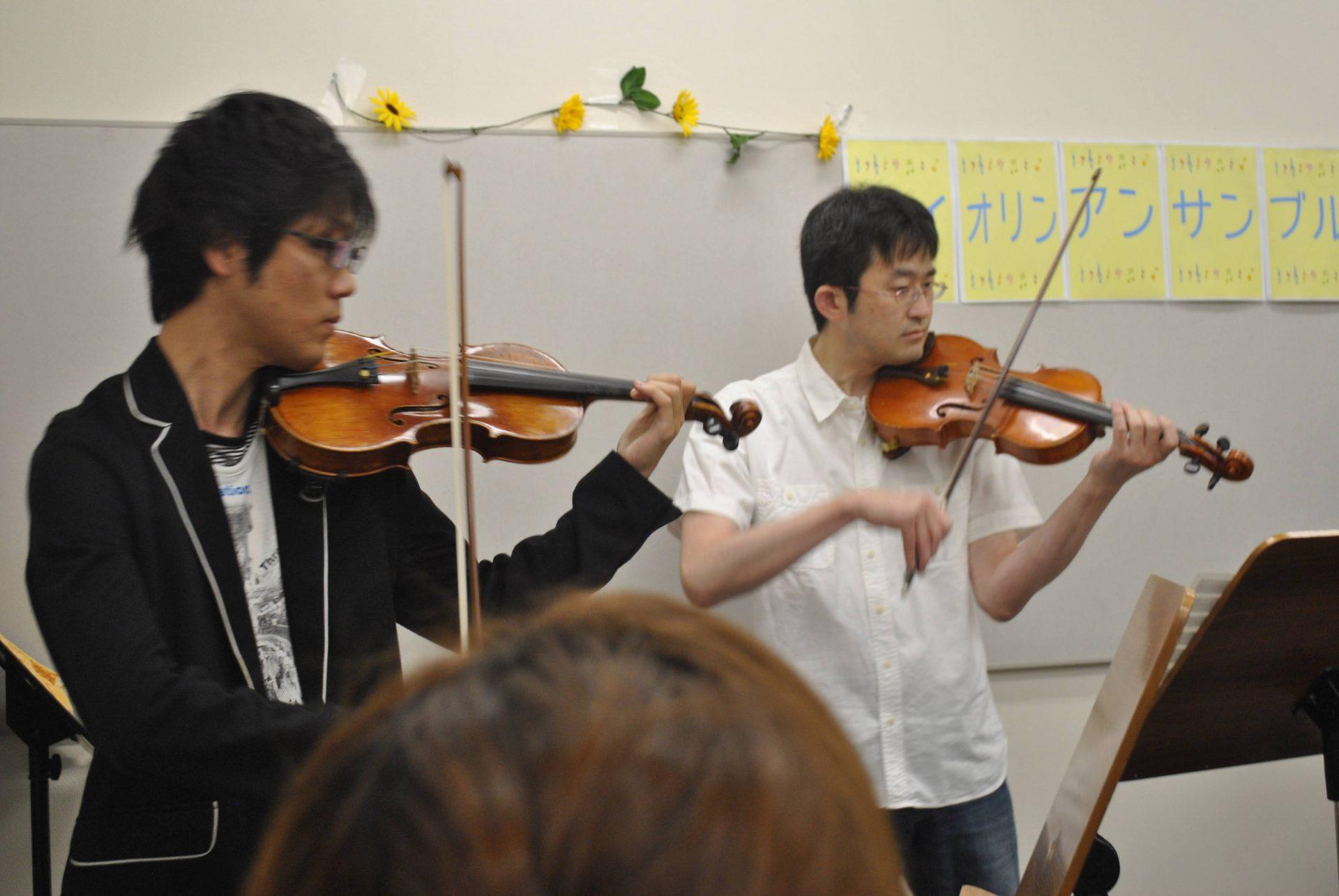 男 柏 流山 バイオリン
