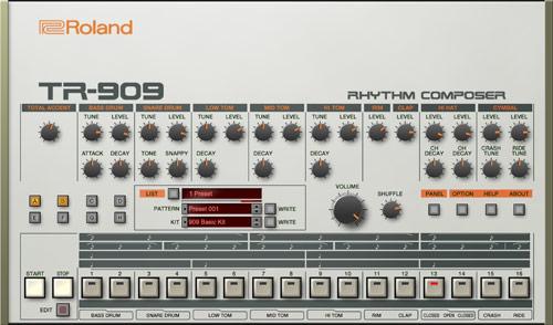 TR-909 リズムマシン ダンスミュージック