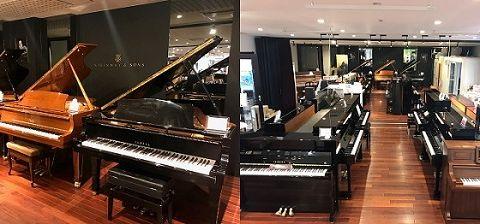 アップライトグランドピアノ展示
