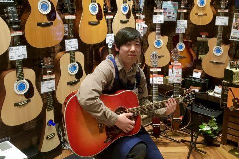 スタッフ写真アコースティックギター、ベース永野