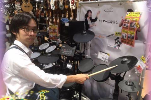 スタッフ写真ドラム藤井