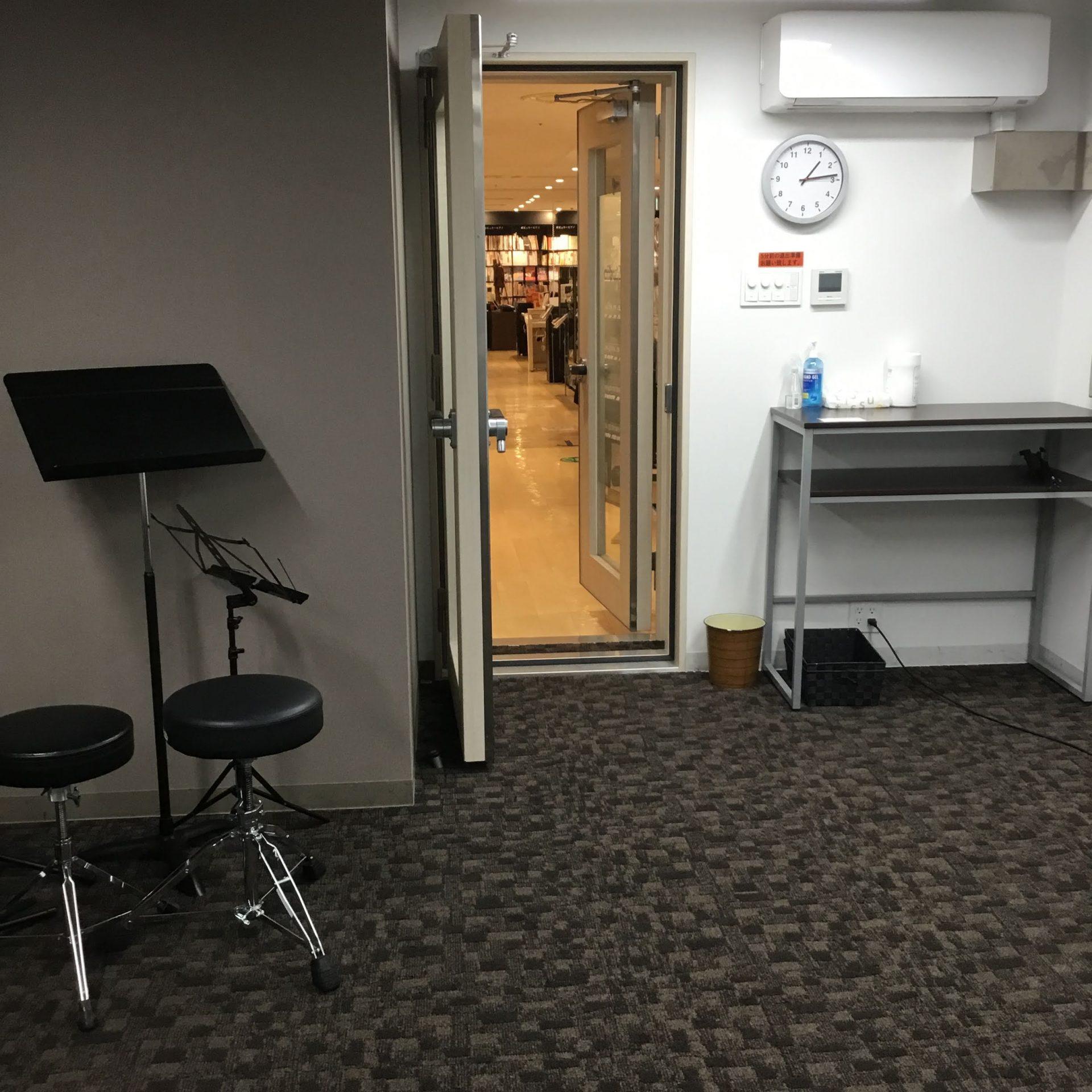 広いレッスンルーム