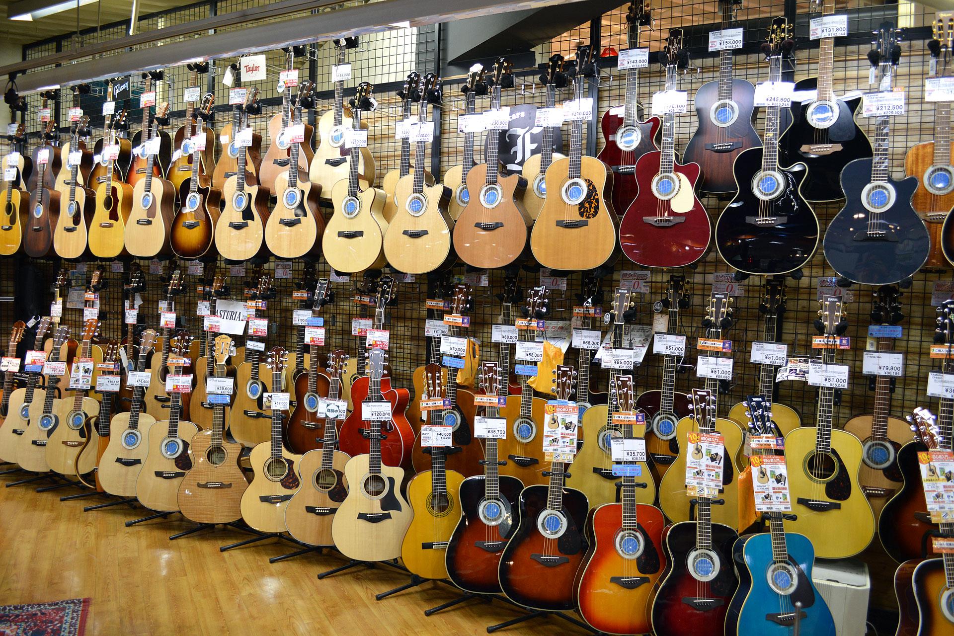 アコースティックギター店頭画像