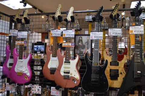EDWARDSエレキギター店頭画像