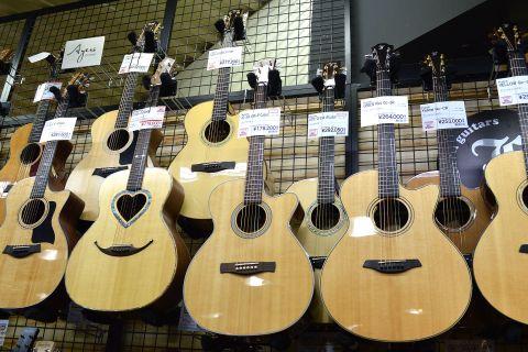Ayersアコースティックギター店頭画像
