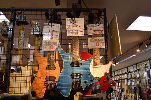 Strandbergエレキギター店頭画像