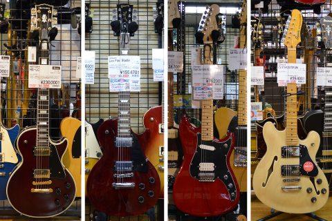 エレキギター4本店頭画像