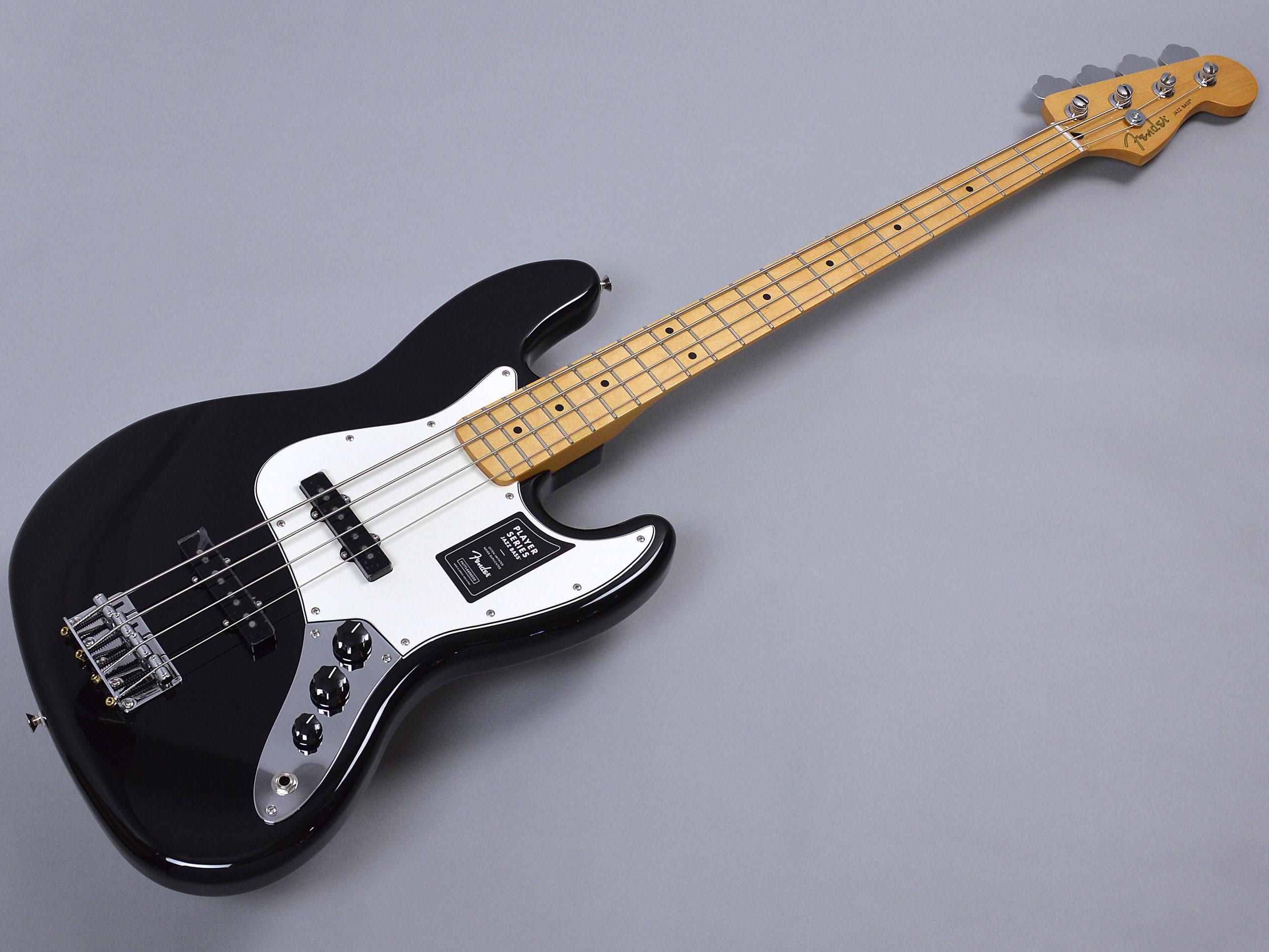 Fender PLAYER JAZZ BASS MN BLKトップ画像