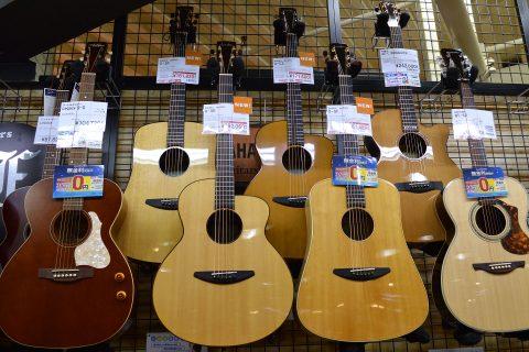 baden guitars店頭画像