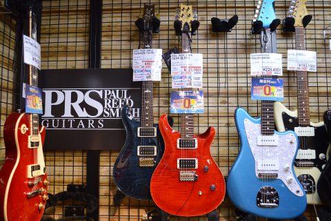 PRSエレキギター店頭画像