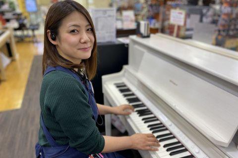 スタッフ写真音楽教室、電子ピアノ、電子キーボード、楽譜、弦楽器、音楽雑貨湯田