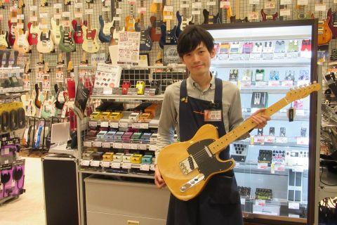スタッフ写真エレキギター・エレキベース・エフェクター・ギターパーツ野崎