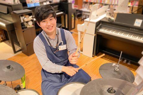 スタッフ写真ドラム/ギター&ドラムアクセサリー佐野大貴(さのだいき)
