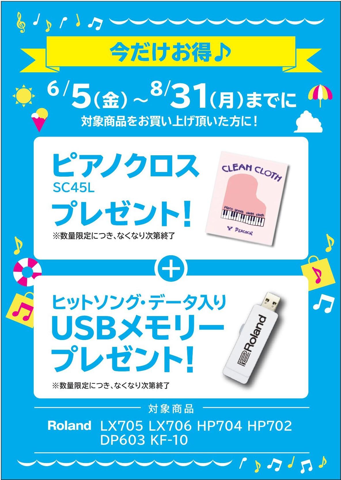 USBメモリープレゼント DP603/KF10/HP704-702