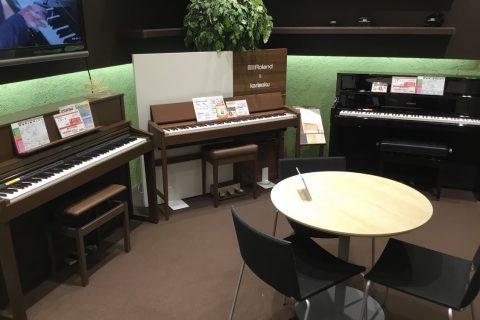 電子ピアノコーナー③&カウンター