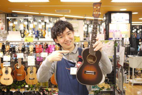 スタッフ写真ウクレレ・アンプ・エフェクター・電子ドラム沖田