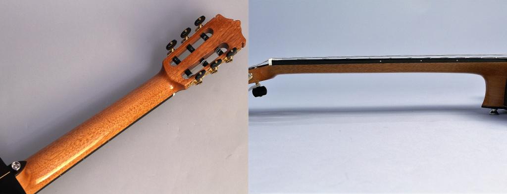 薄めのネック、そして弦高の低さによって、圧倒的な弾きやすさを実現しました