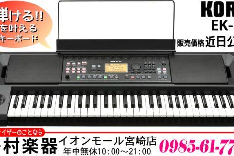 「弾ける!!」を叶えるキーボード KORG EK-50 は2018年10月13日発売予定です。価格が決まり次第、本Webサイトにてお知らせいたします。