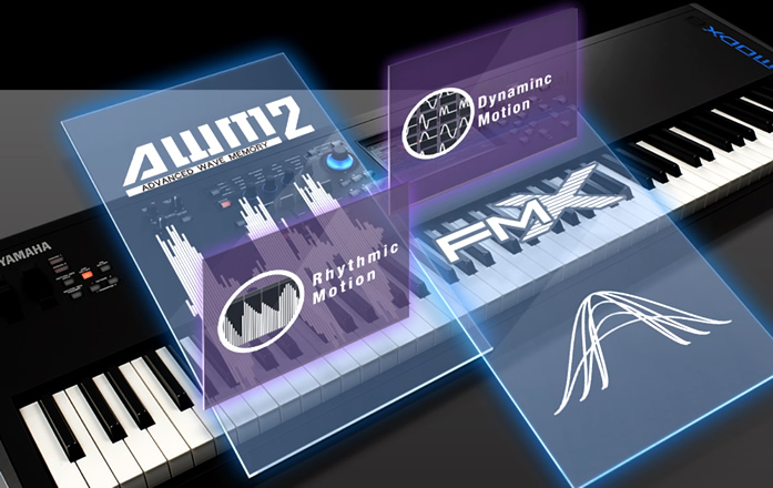 フラッグシップシンセサイザー「MONTAGE」のテクノロジーをベースとした強力なサウンドエンジンを搭載