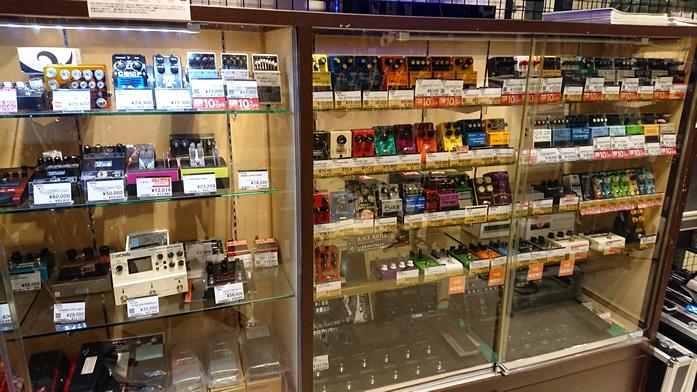 島村楽器 イオンモール宮崎店のエフェクター売り場