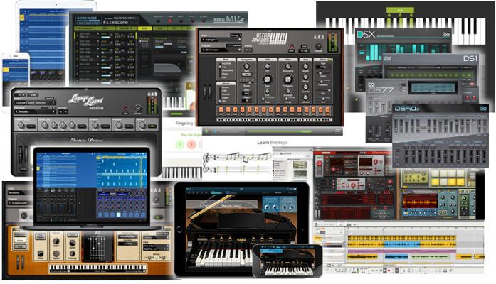 「KORG microKEY Air」には、豪華でパワフルな音楽ソフトウェアが無料バンドルされます。
