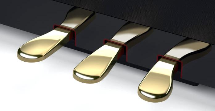 より自然なグランドピアノのダンパーペダルを再現