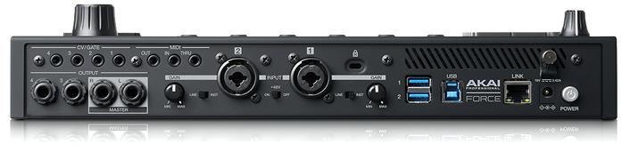 「AKAI FORCE」は、2IN/4OUT CV/GATE MIDI USB3.0 ETHERNET など様々なデバイスが接続できます。