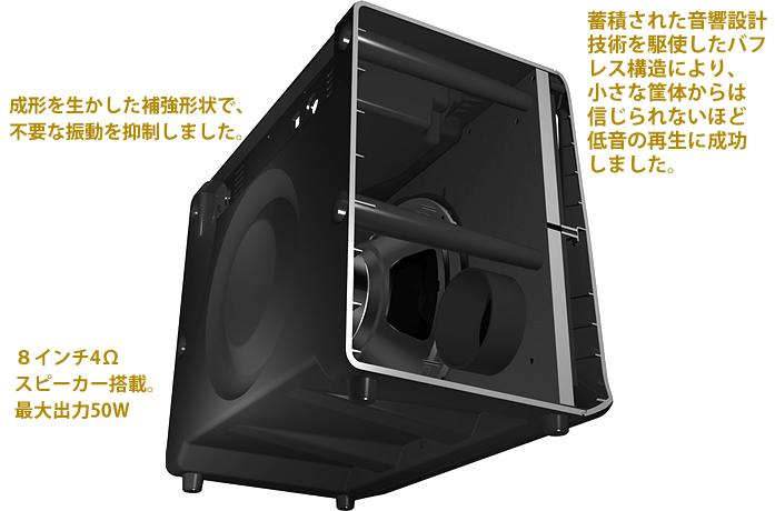 「VX50GTV」の軽量・高音質キャビネット