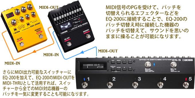 「EQ-200」はMIDIでのコントロールも可能です。